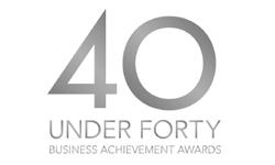 40 under forty business achievement award